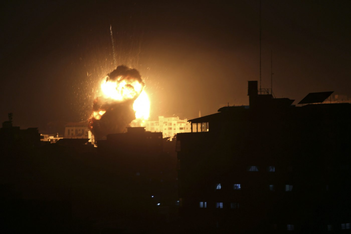 Hamas 'Underground Infrastructure' Hit After an Israeli Airstrike