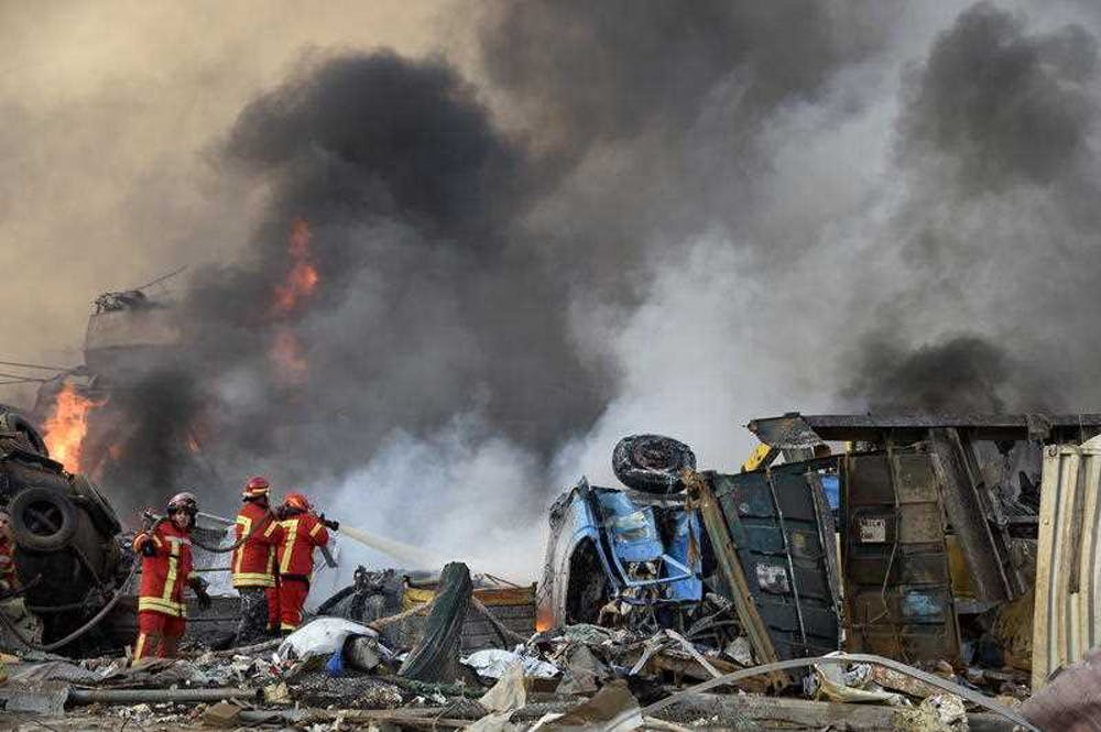 The Lebanese government struck a $3.6 million deal with Combi Lift in November to help clean up the wreckage from the blast.